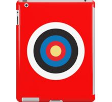 Bulls Eye, Right on Target, Roundel, Archery on Red iPad Case/Skin