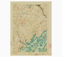 Maine USGS Historical Map Freeport 807496 1892 62500 One Piece - Long Sleeve