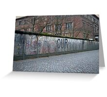Berlin Wall Greeting Card