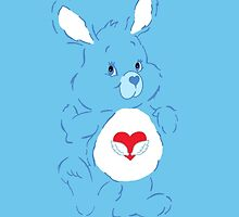 Care Bear Cousins Swift Heart Rabbit iPhone Case by simplepete