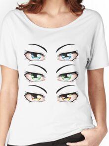 Cartoon male eyes 3 Women's Relaxed Fit T-Shirt