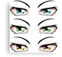 Cartoon male eyes 3 Canvas Print