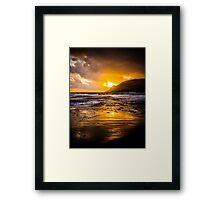 Glenbrittle Sunset Framed Print