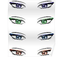 Cartoon female eyes Poster