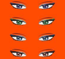 Cartoon female eyes Kids Clothes