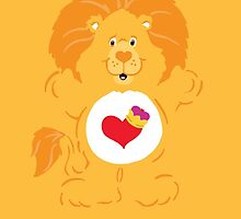 Care Bear Cousins Brave Heart Lion iPhone Case by simplepete