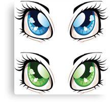 Cartoon female eyes 2 Canvas Print