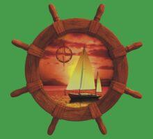 Sailboat Sunset One Piece - Short Sleeve