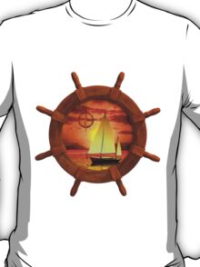 Sailboat Sunset T-Shirt
