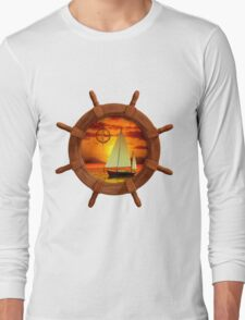 Sailboat Sunset Long Sleeve T-Shirt