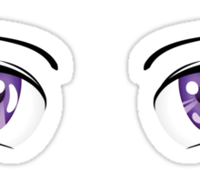 Cartoon female eyes 3 Sticker