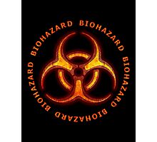 Biohazard Zombie Warning Photographic Print