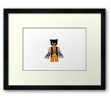 LEGO Wolverine Framed Print