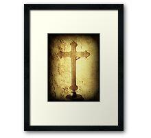 Cross at Mission San Buenaventura Framed Print