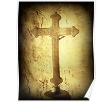 Cross at Mission San Buenaventura Poster