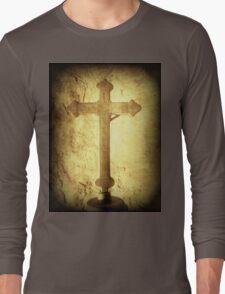 Cross at Mission San Buenaventura Long Sleeve T-Shirt