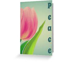 Tulip Peace Greeting Card
