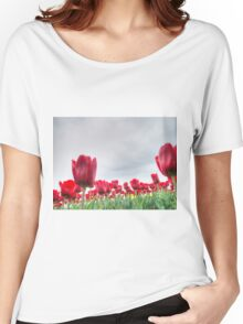 Red tulips 4 Women's Relaxed Fit T-Shirt