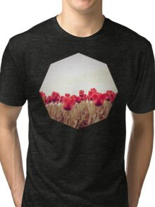 Red tulips 3 Tri-blend T-Shirt
