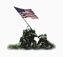 American War Flag, USA, Raising the Colours, Iwo Jima, America, Americana, WW2, WWII Kids Clothes