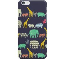 geo zoo iPhone Case/Skin