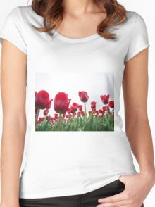Red tulips 5 Women's Fitted Scoop T-Shirt