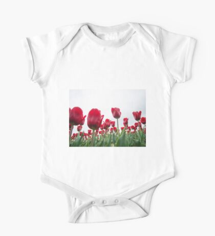 Red tulips 5 One Piece - Short Sleeve