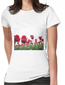Red tulips 5 Womens Fitted T-Shirt