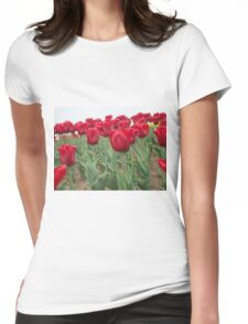Red tulips 6 Womens Fitted T-Shirt