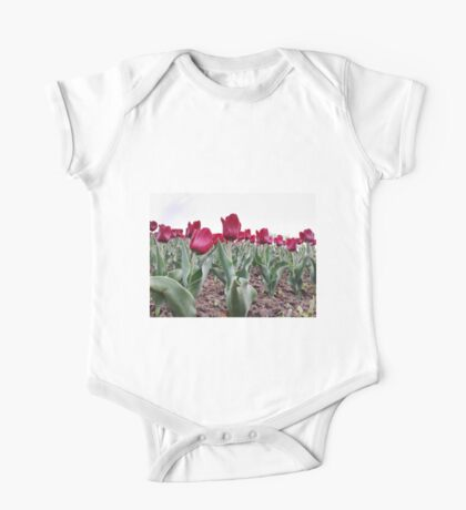 Red tulips 8 One Piece - Short Sleeve