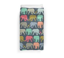 baby elephants and flamingos Duvet Cover