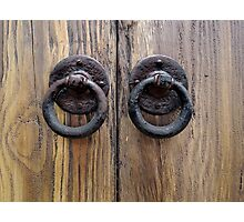 Door Knockers  Photographic Print