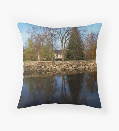 reflections in st malo Throw Pillow