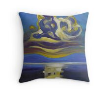 Abstract sunset 30 Throw Pillow