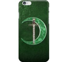 Green Celtic Moon iPhone Case/Skin