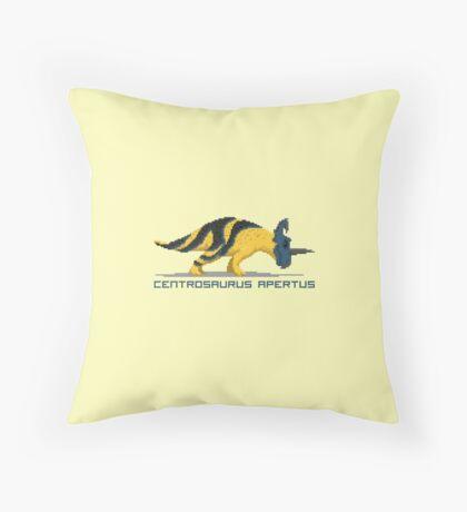 Pixel Centrosaurus Throw Pillow