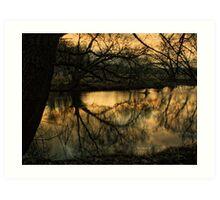 Dusk Waterside Art Print