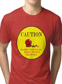 Tako-Chan Does Not Play Well.. Tri-blend T-Shirt