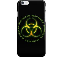 Biohazard Zombie Warning iPhone Case/Skin