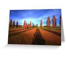 rusty autumn HDR Greeting Card