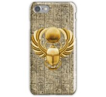 Gold Egyptian Scarab iPhone Case/Skin