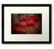 Ribbon Red Framed Print