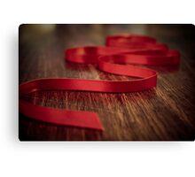 Ribbon Red Canvas Print