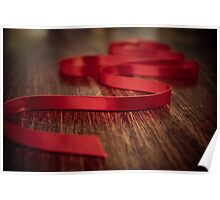 Ribbon Red Poster