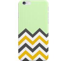 Color Blocked Chevron - Mint iPhone Case/Skin