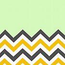 Color Blocked Chevron - Mint by Josrick