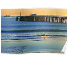 Surfer, Avila beach California. Poster