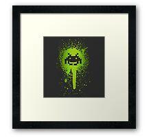 Space Blotch (Green ver.) Framed Print
