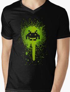 Space Blotch (Green ver.) Mens V-Neck T-Shirt