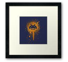Space Blotch (Orange ver.) Framed Print